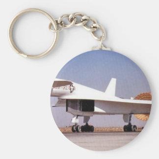 bomber aircraft basic round button keychain