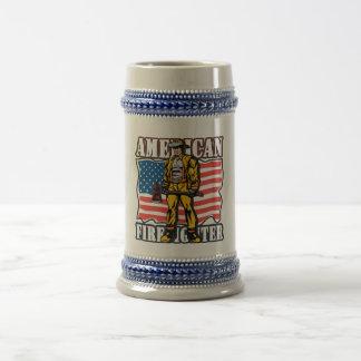 Bombero americano jarra de cerveza