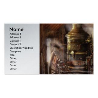 Bombero - bomba de agua accionada vapor tarjeta de visita