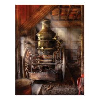 Bombero - bomba de agua accionada vapor tarjetas postales