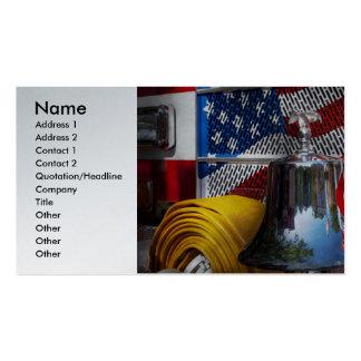 Bombero - candente tarjetas de visita