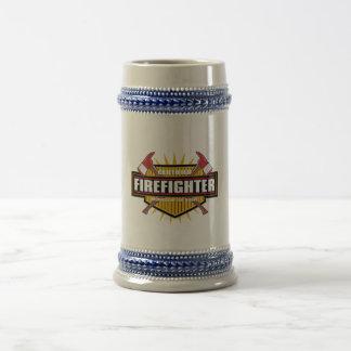 Bombero certificado jarra de cerveza