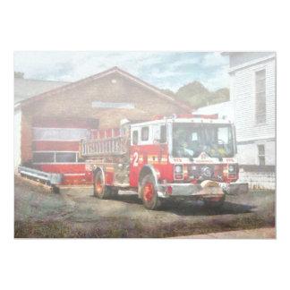 """Bombero - compañía de bomberos 1 de la unión invitación 5"""" x 7"""""""