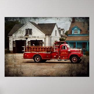 Bombero - compañía de bomberos de Newark Posters