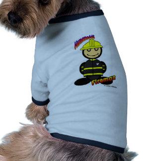 Bombero (con los logotipos) ropa de perro