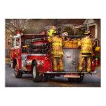 Bombero - cuerpo de bomberos de Metuchen Invitación 12,7 X 17,8 Cm