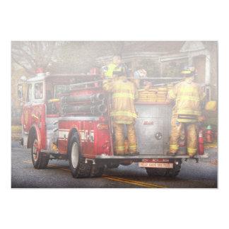 """Bombero - cuerpo de bomberos de Metuchen Invitación 5"""" X 7"""""""