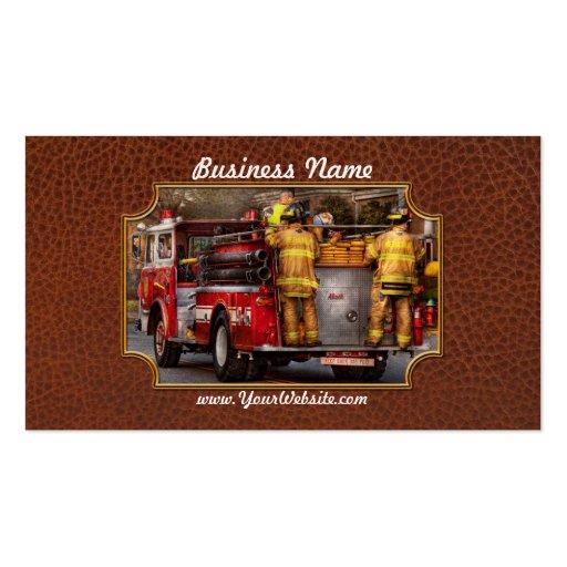 Bombero - cuerpo de bomberos de Metuchen Plantilla De Tarjeta De Visita