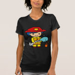 Bombero de sexo femenino camisetas