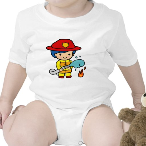 Bombero de sexo femenino trajes de bebé