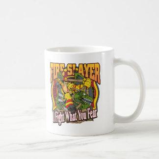 Bombero del asesino del fuego taza de café