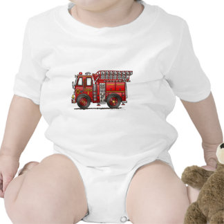Bombero del coche de bomberos de la escalera camisetas