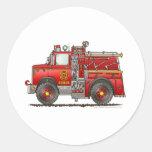 Bombero del coche de bomberos del rescate de la au pegatina