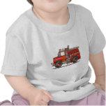 Bombero del coche de bomberos del rescate de la au camisetas