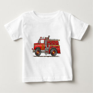Bombero del coche de bomberos del rescate de la remera