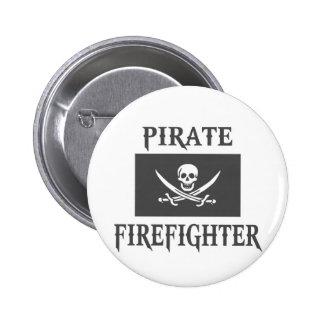 Bombero del pirata pin redondo de 2 pulgadas
