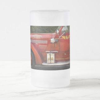 Bombero - departamento del fuego de Garwood Taza De Cristal