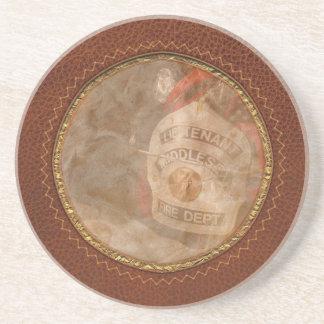 Bombero - el casquillo de los tenientes posavasos diseño