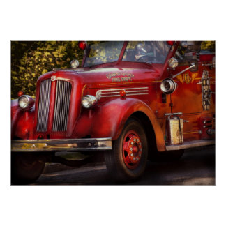 Bombero - el departamento del fuego de Garwood Póster