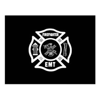Bombero EMT Tarjeta Postal