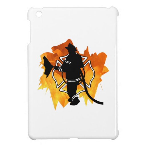 Bombero en llamas iPad mini protectores