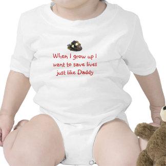 Bombero futuro trajes de bebé
