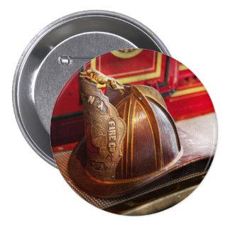 Bombero - gorra - comandante pin