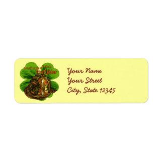 Bombero irlandés dedicado etiqueta de remite