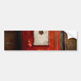 Bombero - la caja del fuego pegatina de parachoque