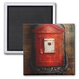 Bombero - la caja del fuego imán cuadrado