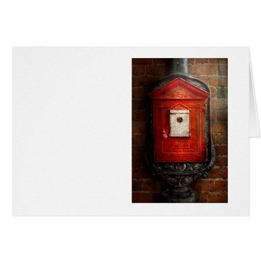 Bombero - la caja del fuego tarjeta de felicitación
