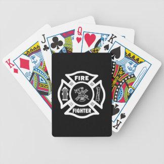 Bombero maltés baraja cartas de poker