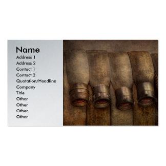 Bombero - manguera - equipo muy importante plantillas de tarjetas de visita