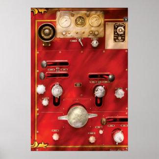 Bombero - palanca y válvulas póster