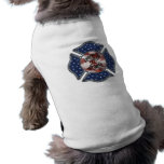 Bombero patriótico maltés camiseta de mascota