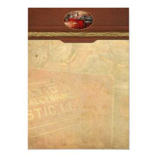 Bombero - sustancia química co de la masilla invitación 12,7 x 17,8 cm