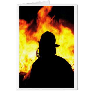 bombero tarjeta de felicitación