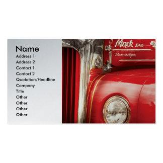 Bombero - un coche de bomberos viejo tarjetas de visita