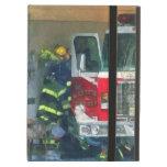 Bomberos - dentro del parque de bomberos