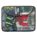 Bomberos - dentro del parque de bomberos fundas macbook pro