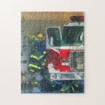 Bomberos - dentro del parque de bomberos puzzles