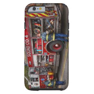 Bomberos - el coche de bomberos moderno funda para iPhone 6 tough