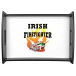Bomberos irlandeses bandejas