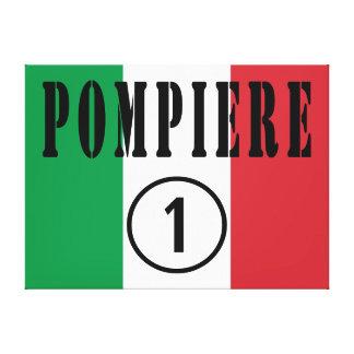 Bomberos italianos: Uno de Pompiere Numero Impresion En Lona