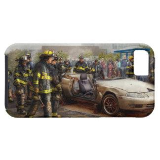 Bomberos - la demostración del fuego iPhone 5 carcasa