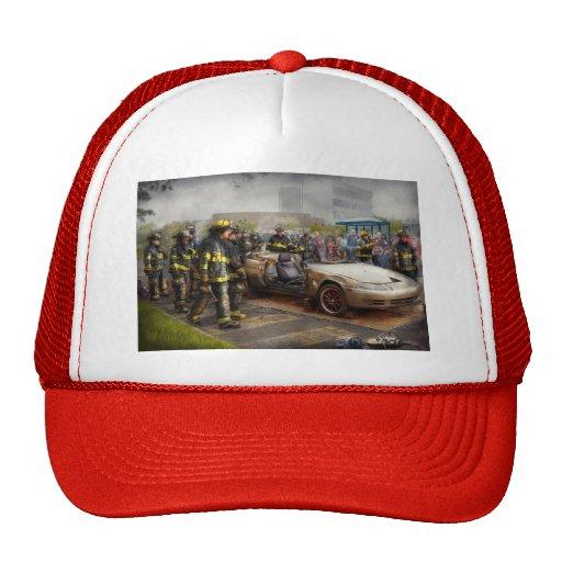 Bomberos - la demostración del fuego gorras de camionero