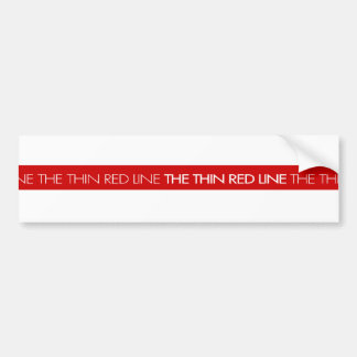 Bomberos… la línea roja fina pegatina para auto
