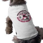 Bomberos para un cáncer de pecho de la curación playera sin mangas para perro