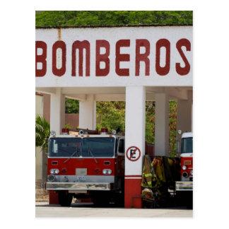Bomberos Postcard