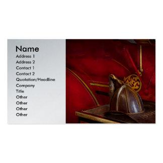 Bomberos - un trabajo elegante tarjeta personal